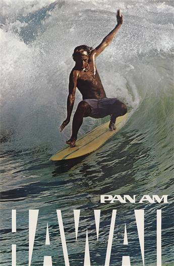 DESIGNER UNKNOWN. HAWAII / PAN AM. Circa 1975. 42x28 inches, 108x71 cm.