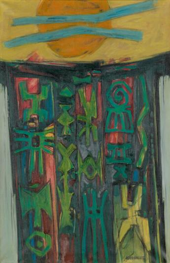 HALE WOODRUFF (1900 - 1980) Celestial Gate.