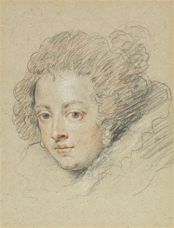 FRENCH SCHOOL, 18TH CENTURY A Portrait Study of Isabella of Bourbon, after Rubens.