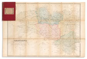 (BRITTANY.) Carte de la Bretagne