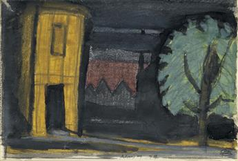 OSCAR BLUEMNER Study for Vacant House.