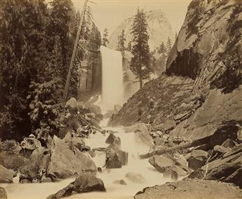 CARLETON E. WATKINS (1829-1916) Vernal Falls 350 feet, Yosemite Valley.