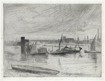 JAMES A. M. WHISTLER Battersea Dawn (Cadogan Pier).