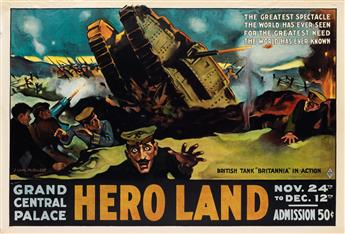 J. CARL MUELLER (DATES UNKNOWN). HERO LAND. 1917. 28x41 inches, 71x104 cm. The Hegeman Print, New York.