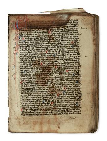 MANUSCRIPT.  Maurice of Provins. Distinctiones.  Manuscript in Latin on vellum.  France, later 13th century.  Lacks 7 leaves.