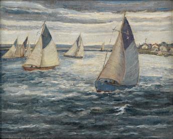 PALMER HAYDEN (1890 - 1973) Larchmont Regatta.