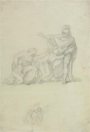 GEORGE ROMNEY (Dalton-in-Furness 1734-1802 Kendal) Three pencil drawings.
