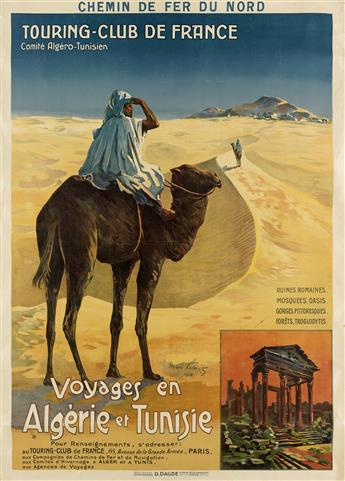 HENRI POLART (DATES UNKNOWN). VOYAGES EN ALGÉRIE ET TUNISIE. 1910. 41x29 inches, 104x75 cm. D. Daude, Paris.