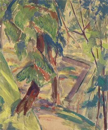 ALFRED H. MAURER Landscape with Trees.