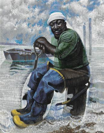 COLUMBUS KNOX (1923 - 1999) Oyster Fisherman.