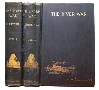CHURCHILL, WINSTON, Sir. The River War: An Historical Account of the Reconquest of the Soudan.  2 vols.  1899
