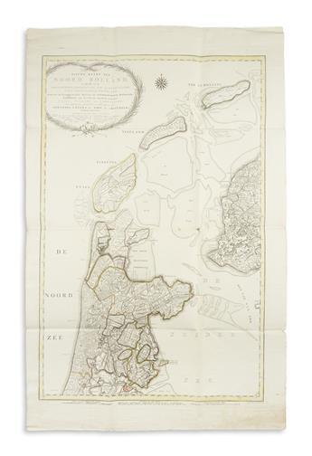 COVENS, JOHANNES, en ZOON. Nieuwe Kaart van Noord Holland,