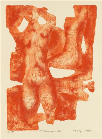 ELDZIER CORTOR (1916 - 2015) Trilogy No. I.