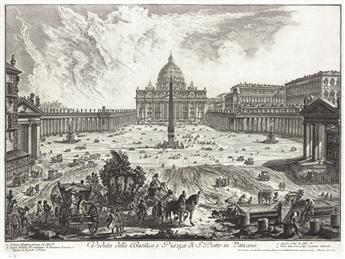 GIOVANNI B. PIRANESI Veduta della Basilica, e Piazza de S. Pietro in Vaticano..