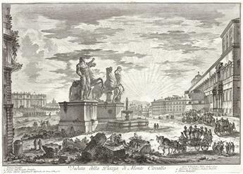 GIOVANNI B. PIRANESI Veduta della Piazza di Monte Cavallo