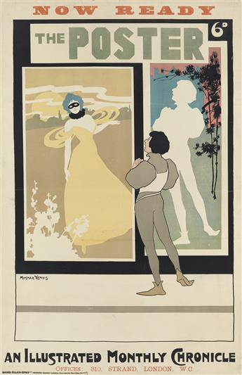 SIDNEY RANSOM (SIGNED MOSNAR YENDIS, DATES UNKNOWN). THE POSTER / AN ILLUSTRATED MONTHLY CHRONICLE. 1898. 29x19 inches, 75x49 cm. David