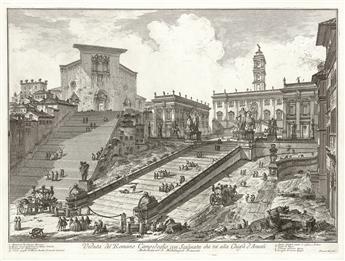GIOVANNI B. PIRANESI Veduta del Romano Campidoglio con Scalinata che va alla Chiesa d'Araceli.