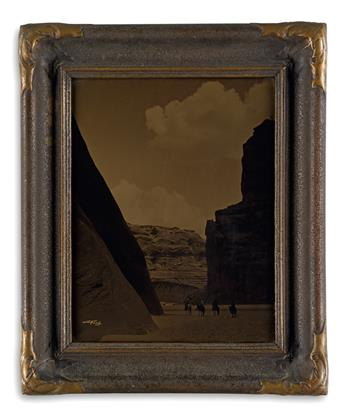 CURTIS, EDWARD S. (1868-1952) Canyon del Muerto. Orotone, 13¾x11 inches (34.9x27.9 cm.), with Curtis signature in the