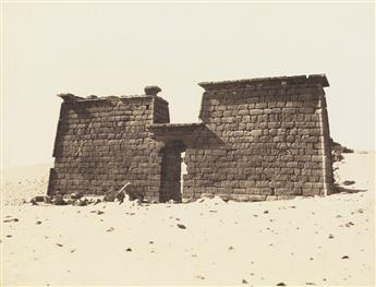 FÉLIX TEYNARD (1817-1892) Sébôuah, Temple - Vue Générale du Pylône, Nubie.
