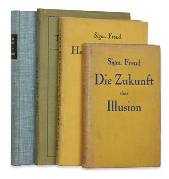 FREUD, SIGMUND. Der Witz. 1905 + Totem und Tabu. 1913 + Hemmung, Symptom und Angst. 1926 + Die Zukunft einer Illusion. 1927
