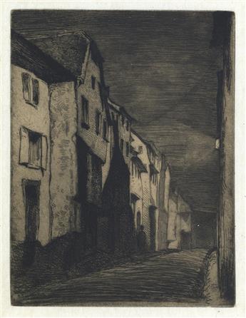 JAMES A. M. WHISTLER Two prints.