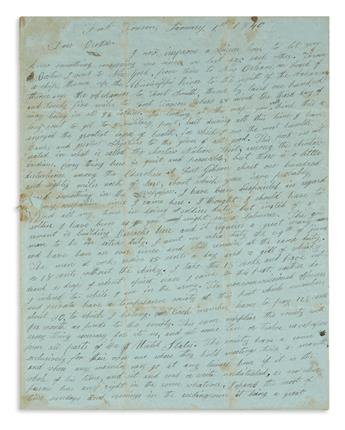 (WEST.) Terry, Smith B. Letter describing frontier army duty in Choctaw country.