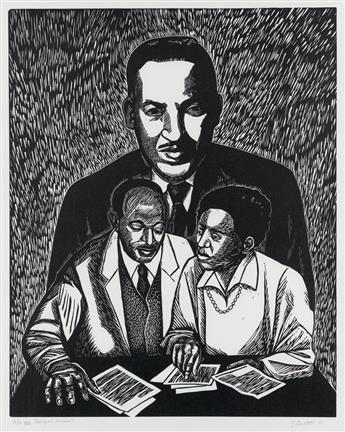ELIZABETH CATLETT (1915 - 2012) Thurgood Marshall.