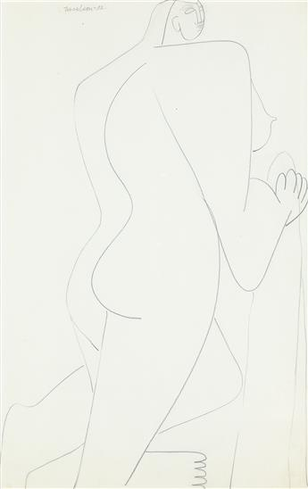 LOUISE NEVELSON Standing Nude.