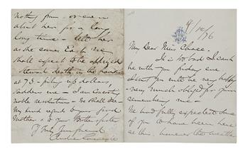 (BUSINESS.) CARNEGIE, ANDREW. Autograph Letter Signed, to Elizabeth Buffum Chace (My Dear Miss Chace),