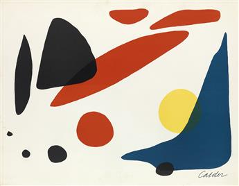 ALEXANDER CALDER Composition (Blue Boomerang with Red, Black and Yellow Shapes).