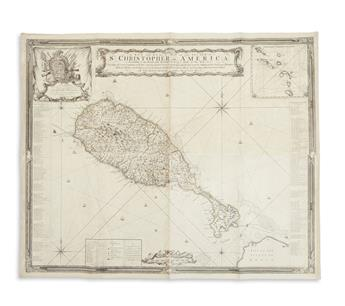 BAKER, SAMUEL. A New and Exact Map of the Island of St. Christopher in America,