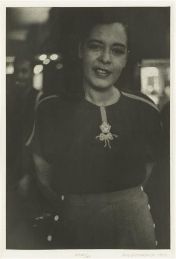 ROY DECARAVA (1919-2009) Billie Holiday (Billie at Braddocks, New York).