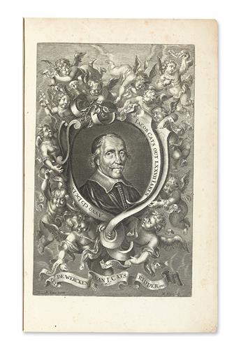 CATS, JACOB. Alle de Wercken.  2 vols.  1700