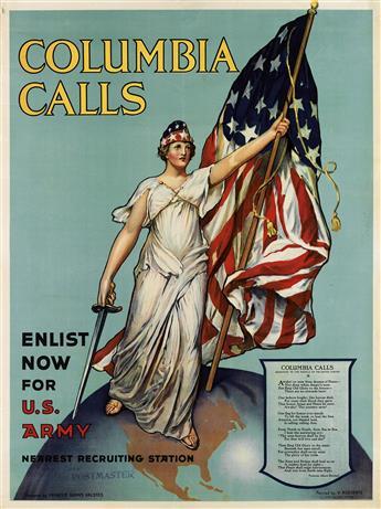 FRANCES ADAMS HALSTEAD (DATES UNKNOWN). COLUMBIA CALLS. 1916. 40x30 inches, 101x76 cm. New York.
