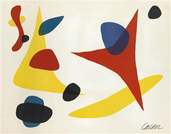 ALEXANDER CALDER Composition (Yellow Boomerang with Blue, Black and Red Shapes).