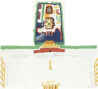 DAVID HOCKNEY Red Square and the Forbidden City.