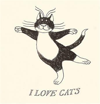 EDWARD GOREY. I Love Cats.