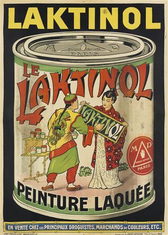 DESIGNER UNKNOWN. LE LAKTINOL / PEINTURE LAQUÉE. 53x38 inches, 137x97 cm. Mourlot, Marseille.