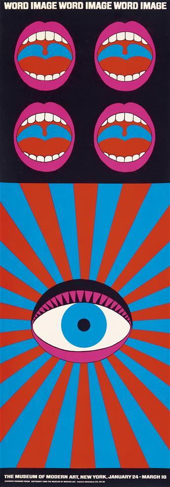 TADANORI YOKOO (1936- ). WORD IMAGE. 1968. 49x12 inches, 124x30 cm. Poster Originals Ltd., [New York.]