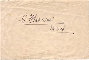 MARCONI, GUGLIELMO. Signature and date, G Marconi / 1934, on a slip of paper.