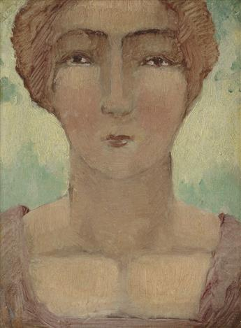 ABRAHAM WALKOWITZ Portrait of a Woman.