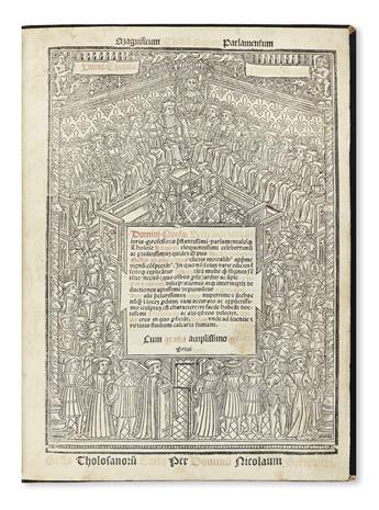BERTRAND, NICOLAS. Opus de Tholosano[rum] Gestis ab Urbe Condita.  1515