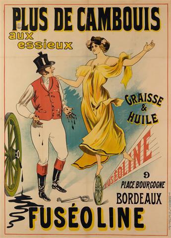 DESIGNER UNKNOWN. PLUS DE CAMBOUIS AUX ESSIEUX / FUSÉOLINE. 52x38 inches, 133x98 cm. Bourgerie & Cie., Paris.