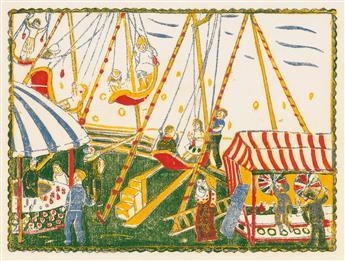 TIJTGAT, EDGARD. Carrousels et Baraques.