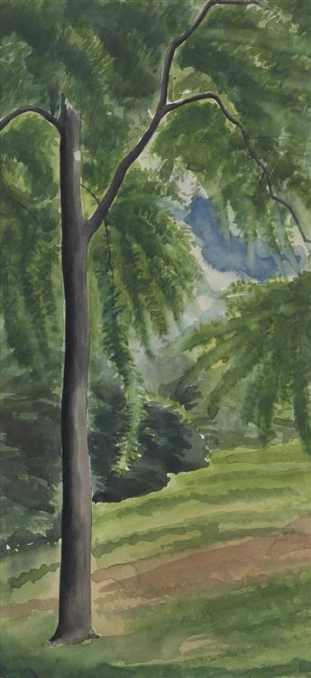 GEORGE C. AULT Landscape with a Tall Tree.