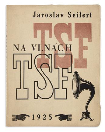 (AVANT-GARDE / CZECH MODERNIST.) Seifert, Jaroslav; and Teige, Karel. Na Vlnách TSF (On the Waves of the Telegraph).