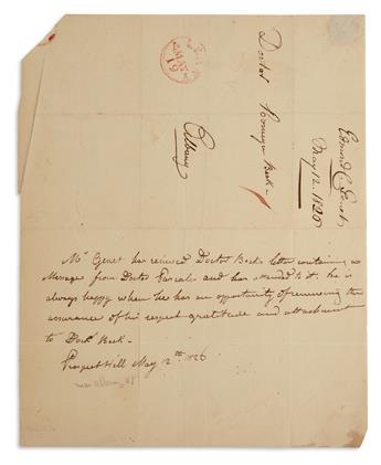 EDMOND-CHARLES GENÊT. Autograph Letter Signed, Mr. Genet, in the third person within the text, to Theodric Romeyn Beck...