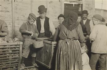 LEWIS W. HINE (1874-1940) Oyster Shuckers.