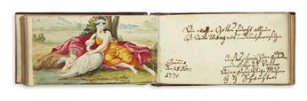 (FRIENDSHIP ALBUMS.) 18th-century German friendship album kept by Friedrich Leberecht Kummer.