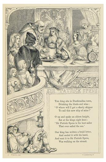 HALL, SAMUEL CARTER; editor. The Book of British Ballads.